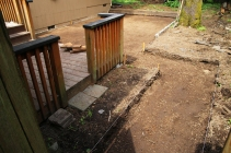 Done digging and leveling! Walkway AND patio.