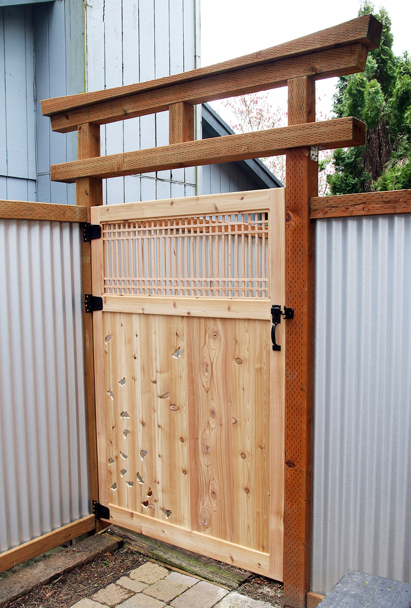 It Will Be Even Nicer When The Cedar Weathers To A Silvery Grey, Much Like  The Color Of The Galvanized Fence Panels.