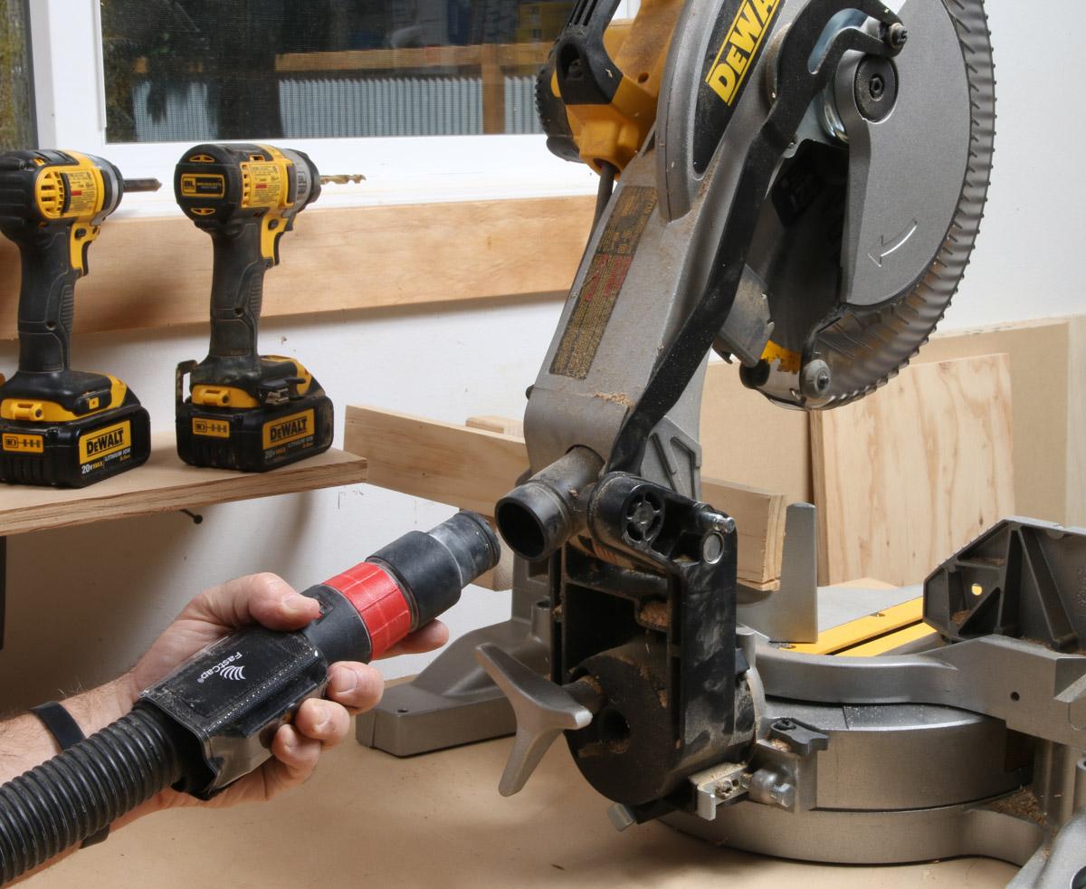 Hook Up Vacuum To Miter Saw